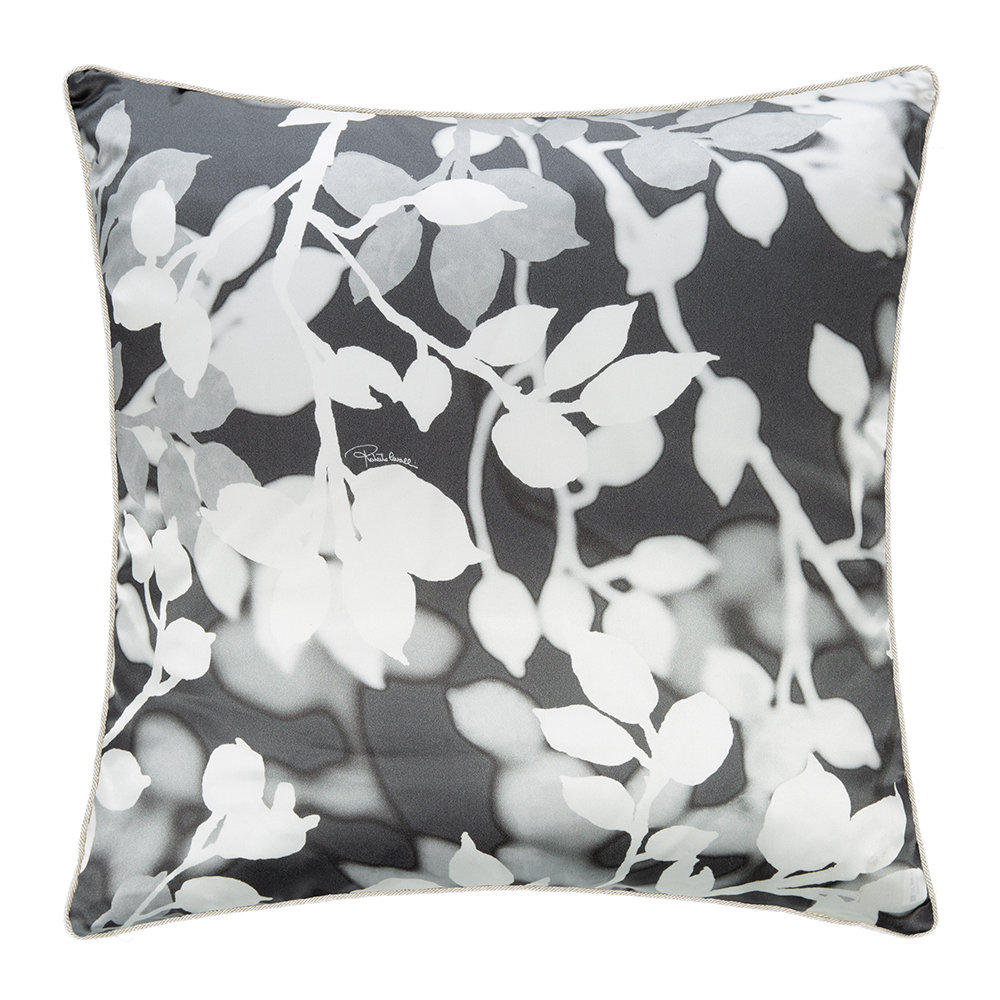 Roberto Cavalli - Canopy Silk Cushion - 40x40cm - Grey
