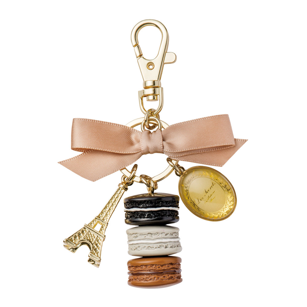 Ladurée - Macarons Keyring - Licorice - Medium