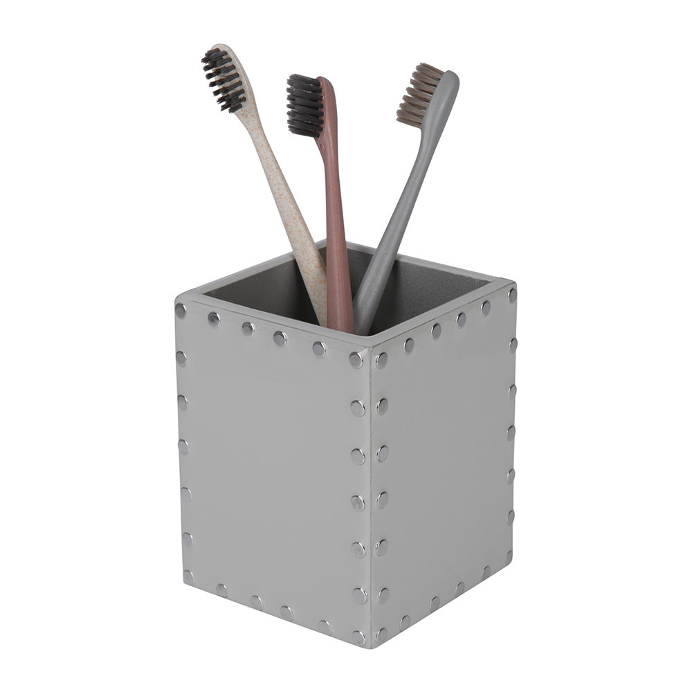 Mike + Ally - Aero Toothbrush Holder - Gravel/Silver