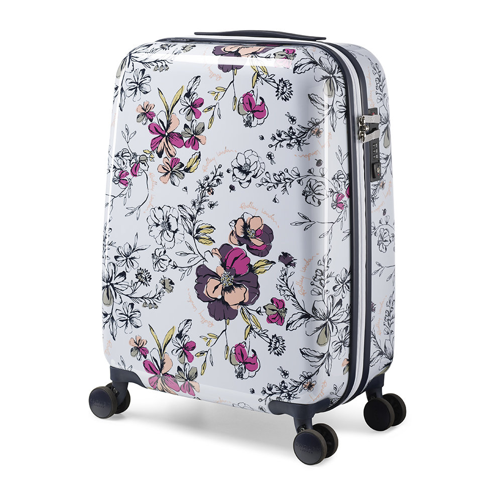 Radley - Sketchbook Floral Suitcase - White - Small