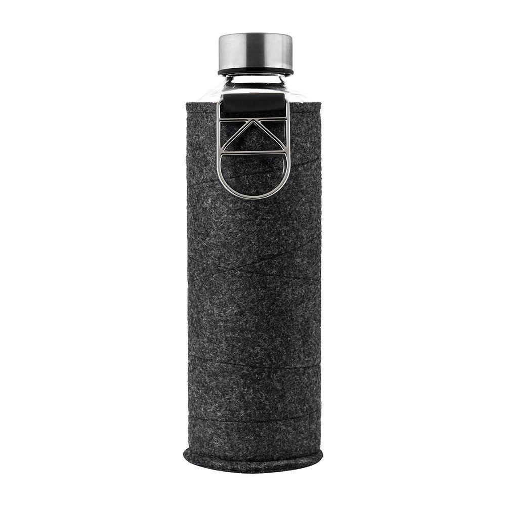 Equa - Mismatch Water Bottle with Felt Cover - Silver