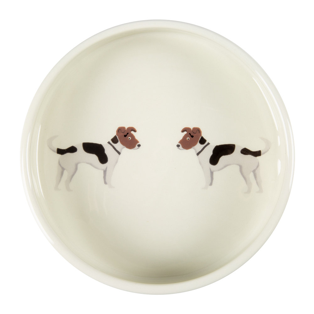 Fenella Smith - Jack Russell Round Dog Bowl