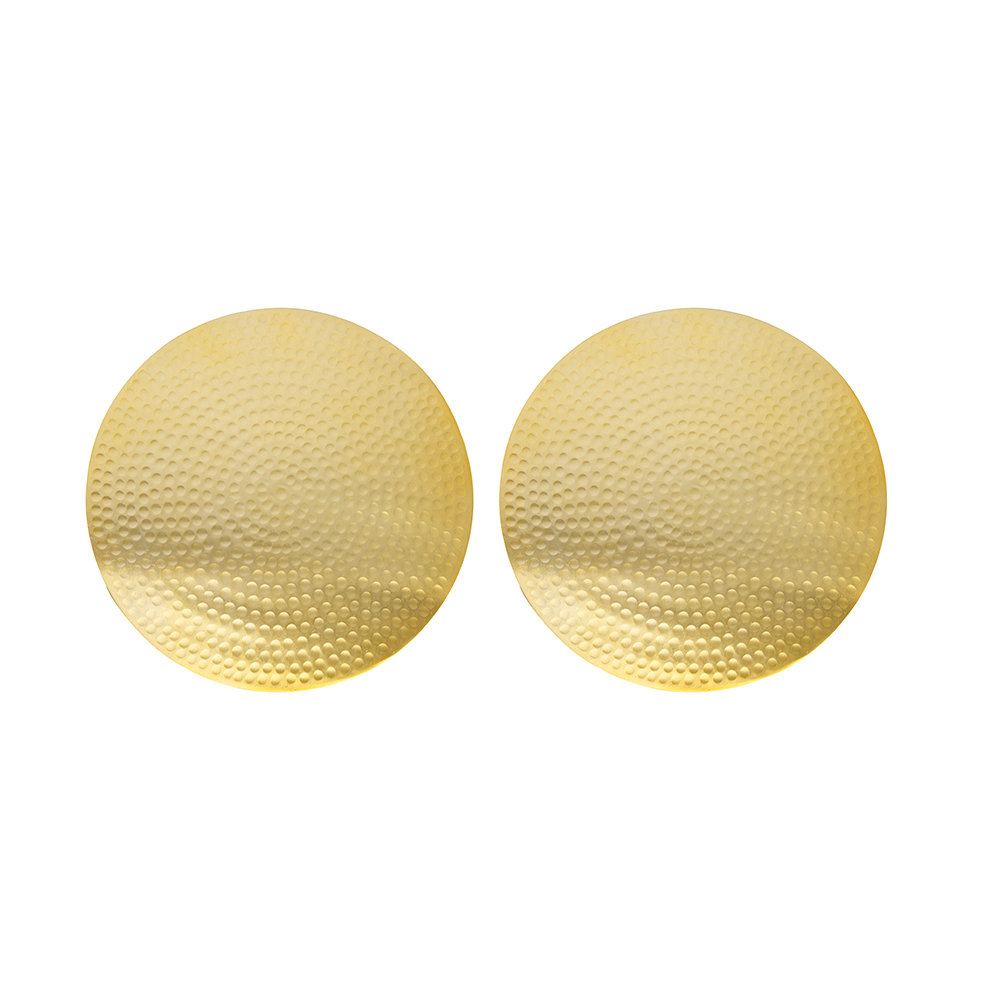 The Just Slate Company - Flat Hammered Gold Placemats - Set of 2