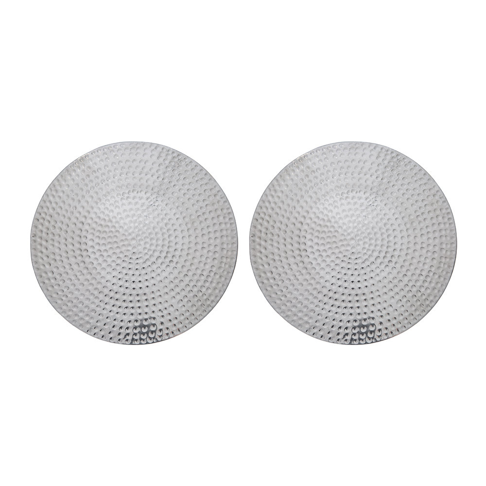 The Just Slate Company - Flat Hammered Steel Placemats - Set of 2