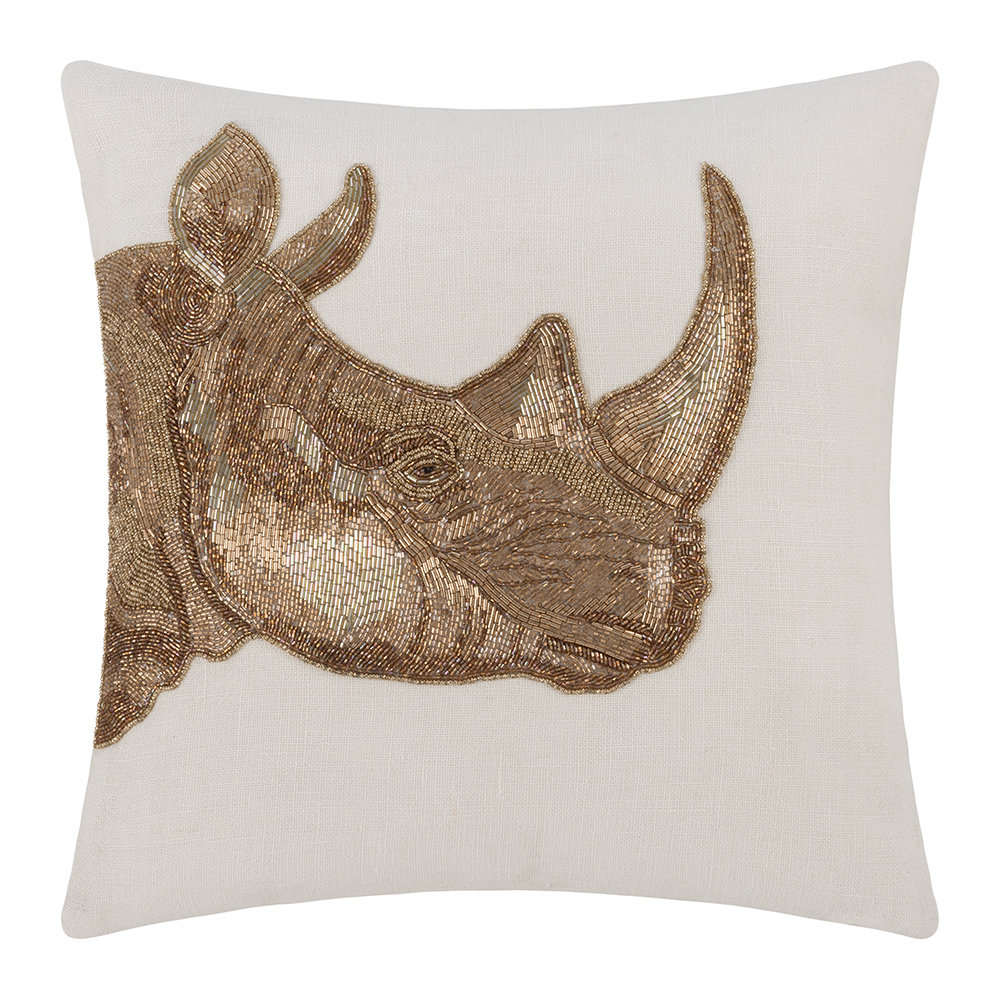 Jonathan Adler - Botanist Rhino Cushion - Gold/Light Blue