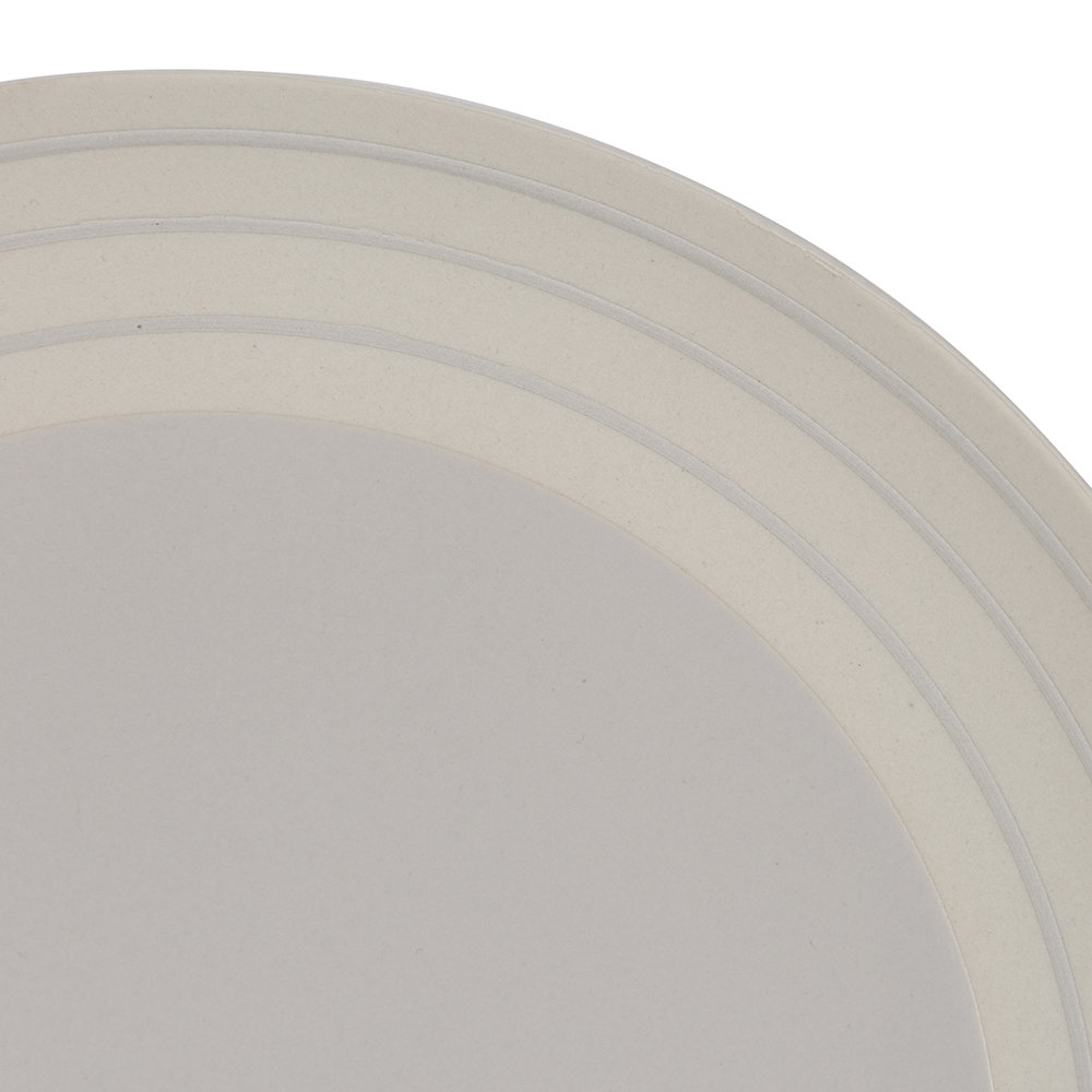 Canvas Home - Clef Stripe Dinner Plate - Light Gray