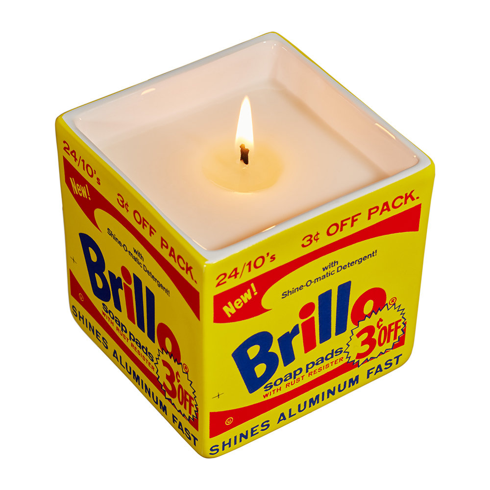 Ligne Blanche - Andy Warhol Square Scented Candle - Brillo - Almond and Morello Cherry