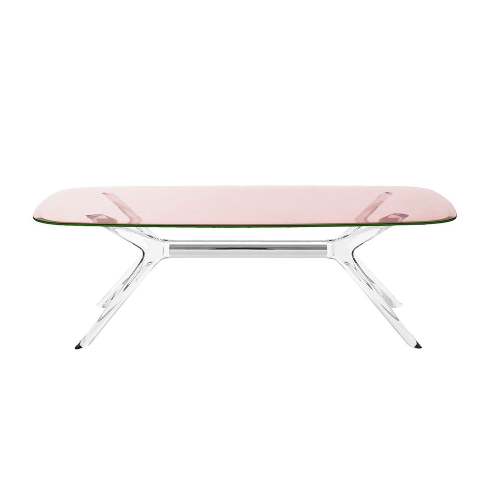 - Buy Kartell Blast Rectangular Coffee Table - Pink AMARA