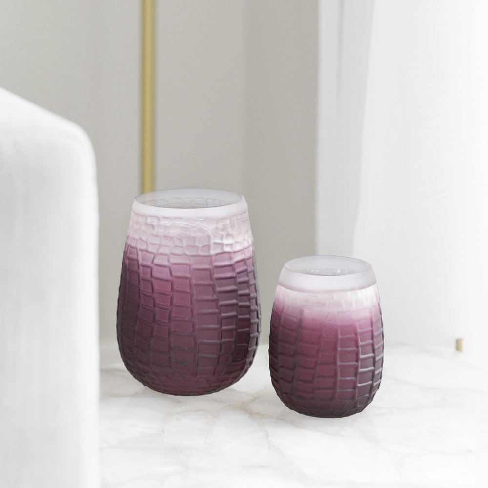 A by AMARA - Croc Effect Glass Votive - Small