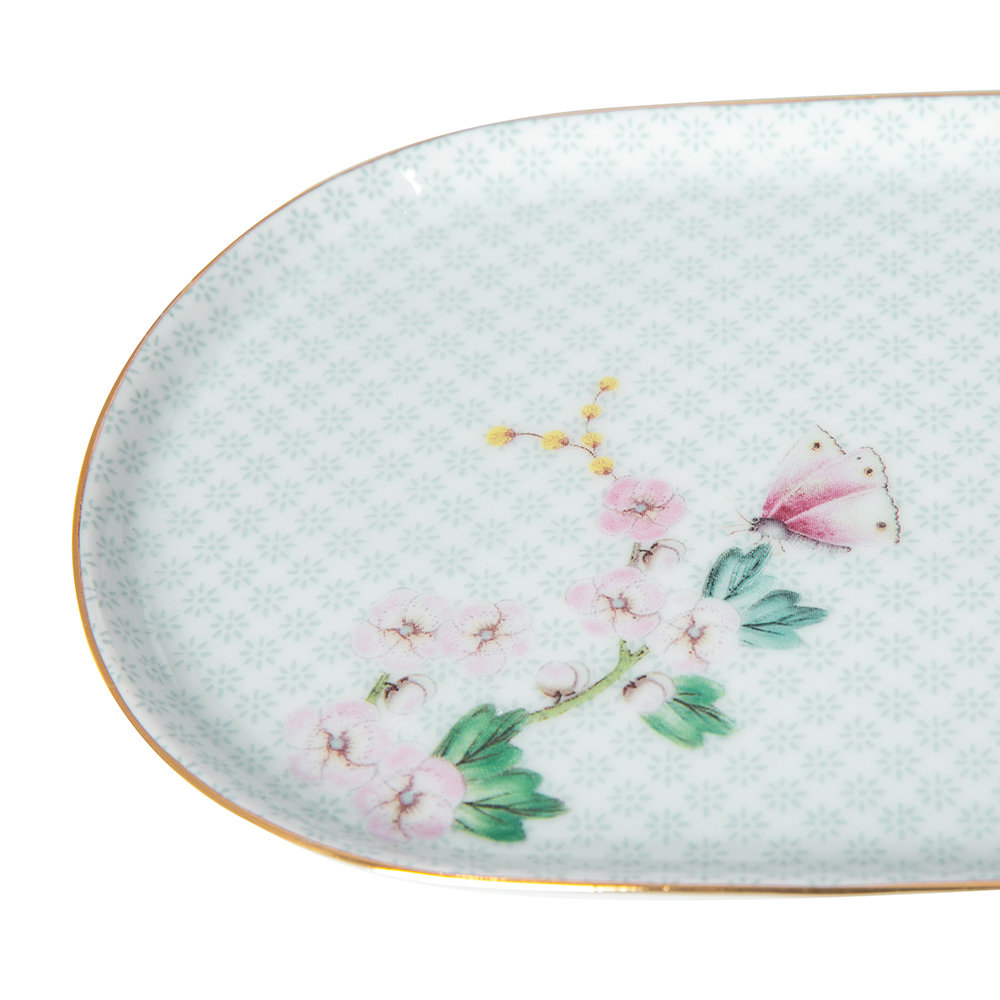 Pip Studio - Blushing Birds Sugar and Creamer Plate - White