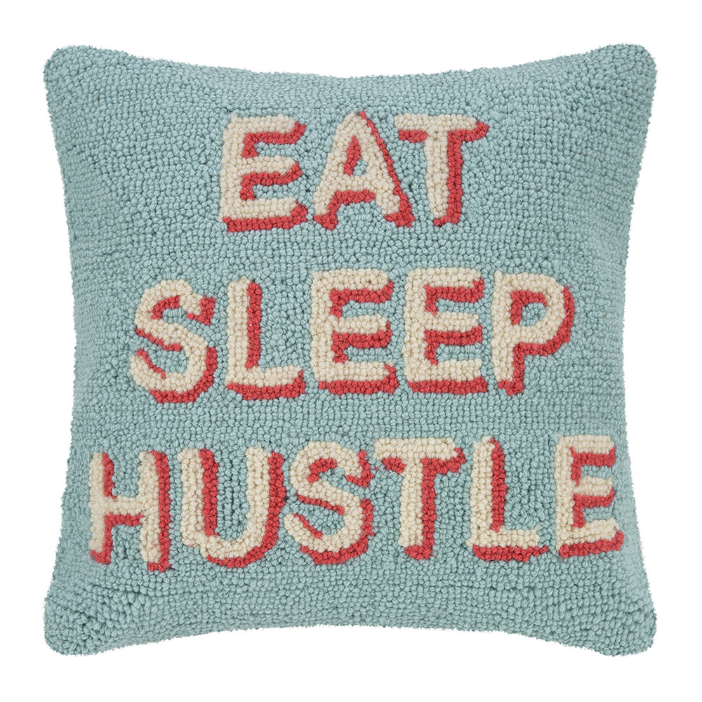 Peking Handicraft - Eat Sleep Hustle Cushion - 40x40cm