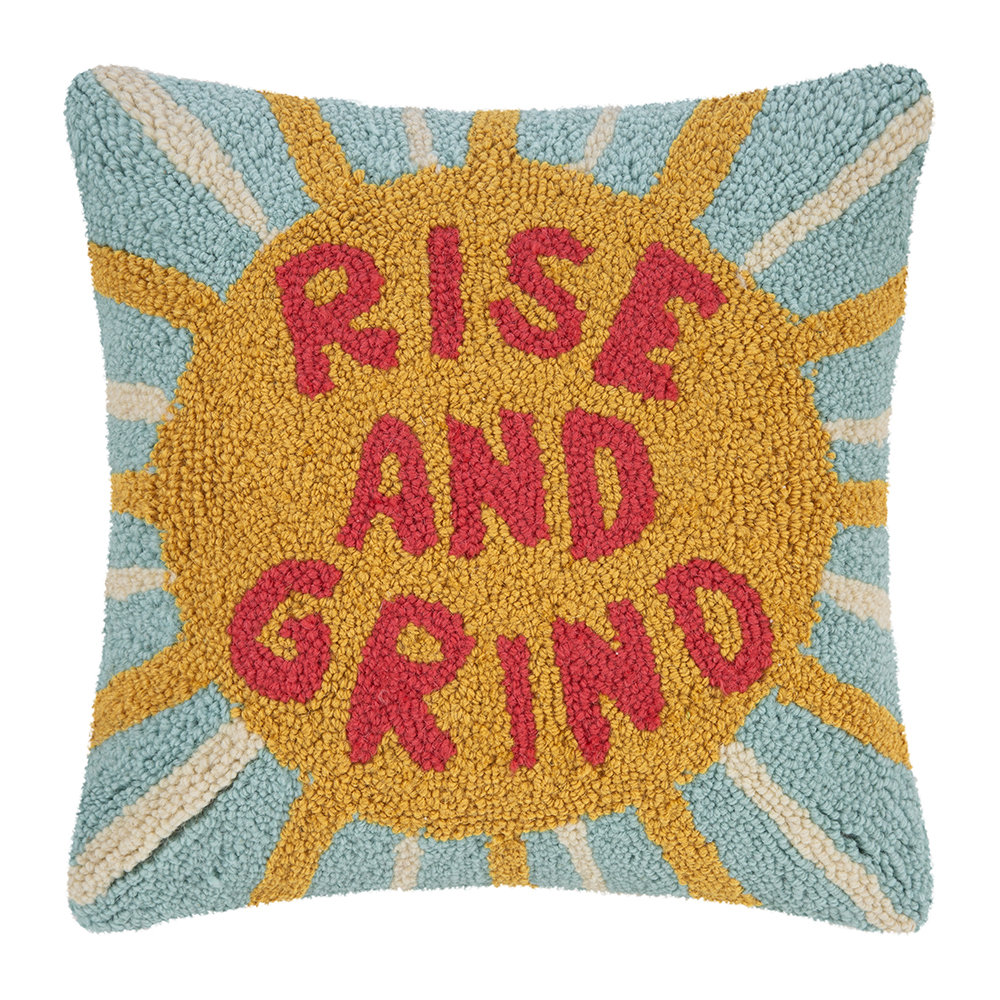 Peking Handicraft - Rise and Grind Cushion - 40x40cm