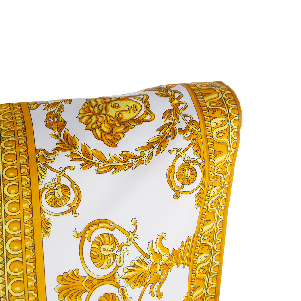 Versace Home - Barocco&Robe Queen Pillowcase Pair - White/Gold