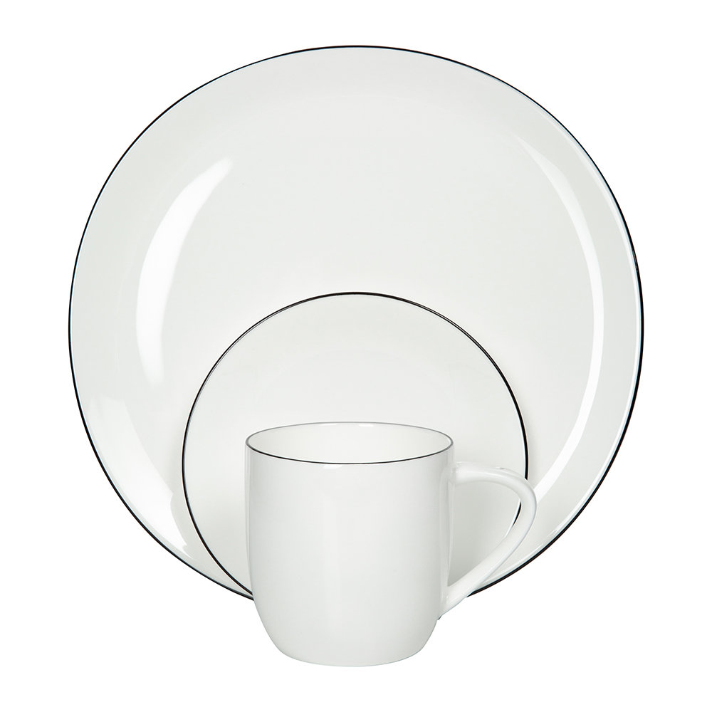 ASA Selection - Black Rim Plate - Dinner Plate