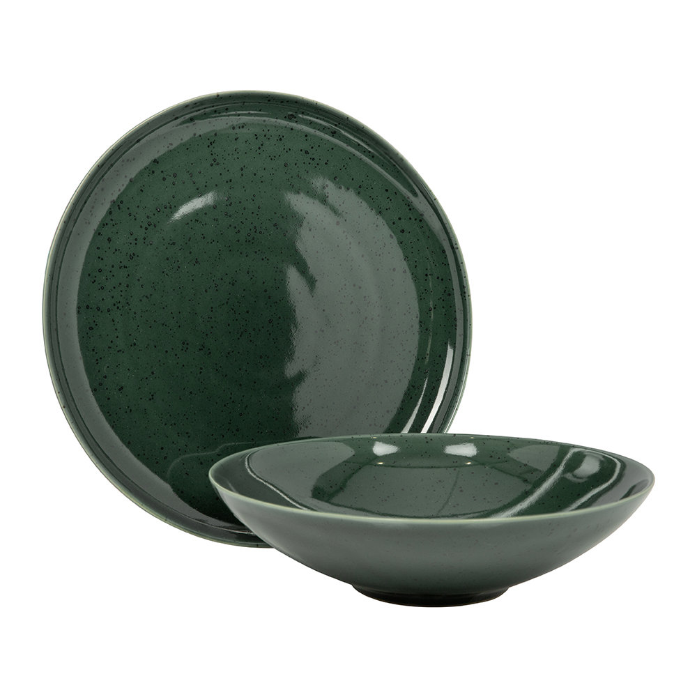 ASA Selection - Seasons Specked Plate - Green - Lunch Plate