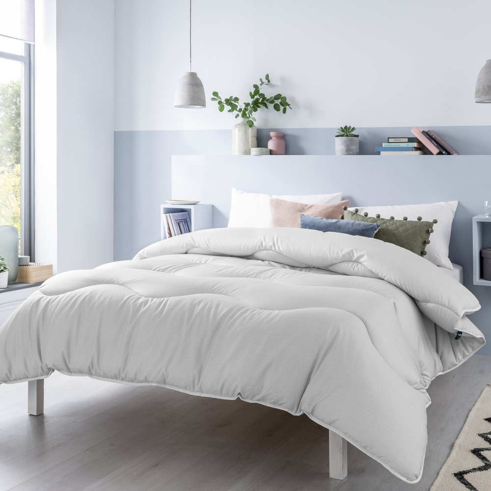 The Fine Bedding Company - Night Owl Washable Quilt Set - Cloud Grey - Double