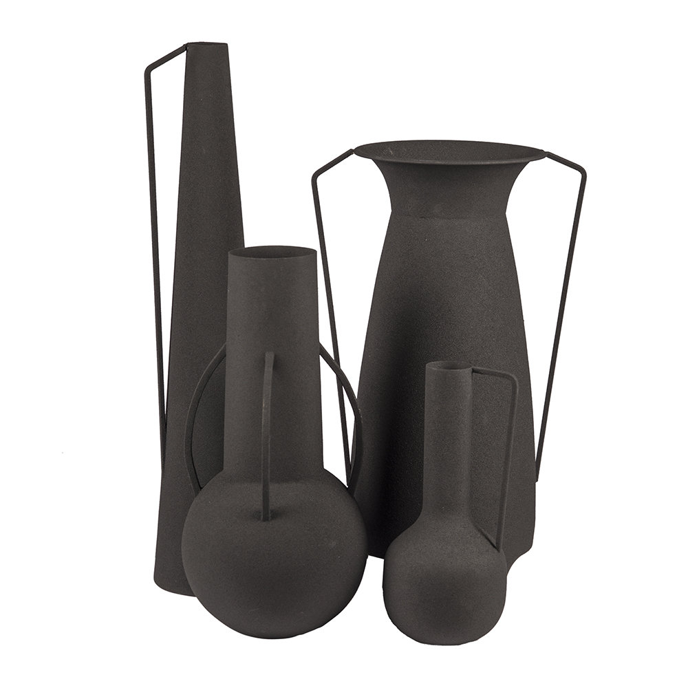 Pols Potten - Roman Vases - Set of 4 - Black
