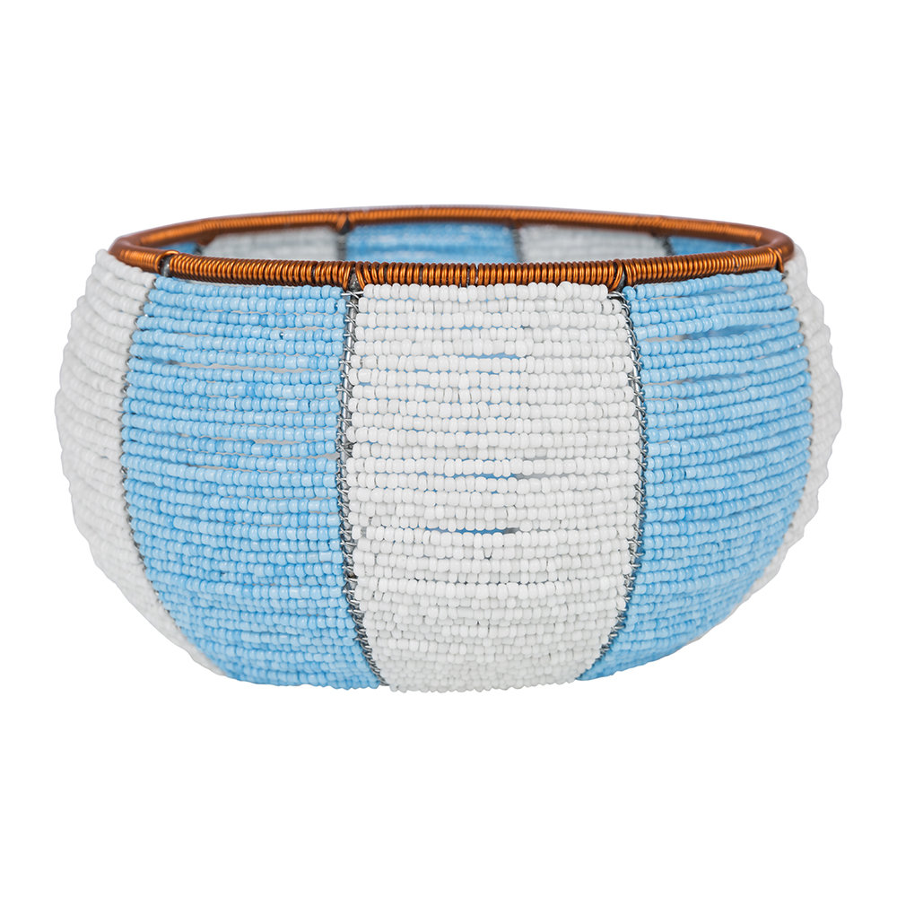 Source - Blue Colour Blocked Bowl - Medium