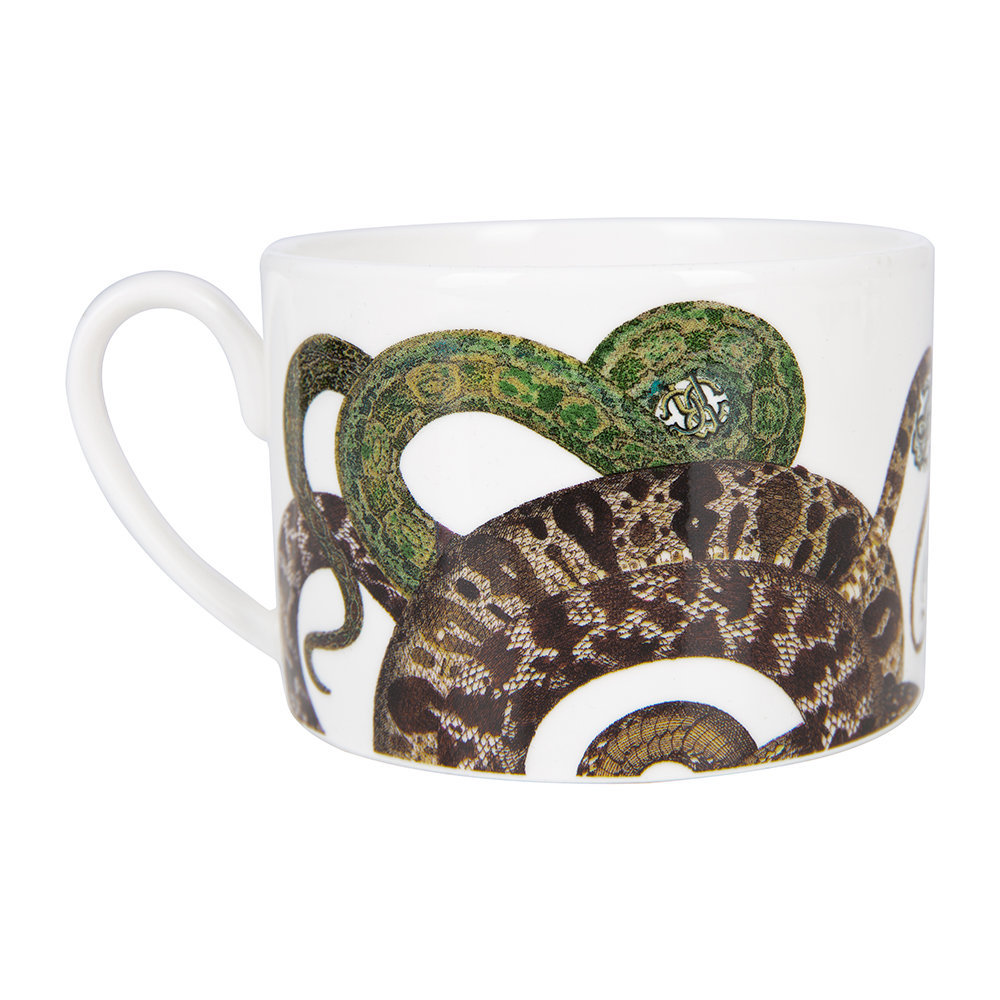 Roberto Cavalli - Snakes Tazza Teacup and Saucer - Set of 6