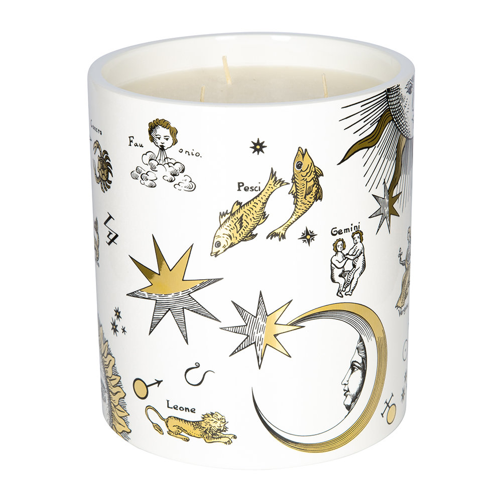 Fornasetti - Astronomici Bianco Candle - Otto - Large