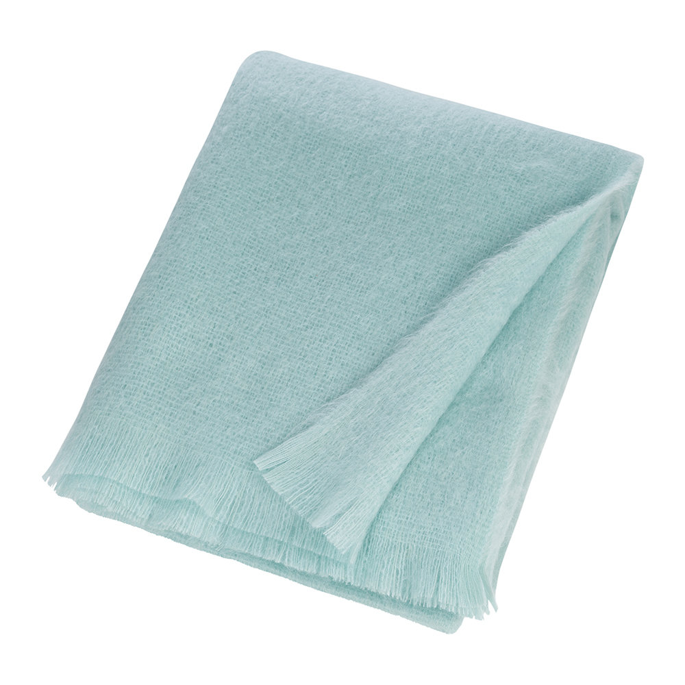Soho Home - Alba Mohair Throw - Duck Egg