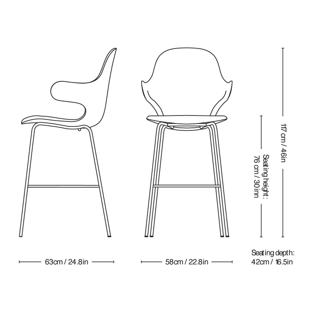 &Tradition - Catch Bar Stool - Steelcut