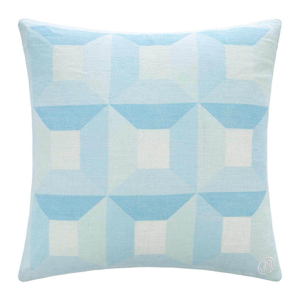 Jonathan Adler - Sorrento Squares Pillow - Blue/White