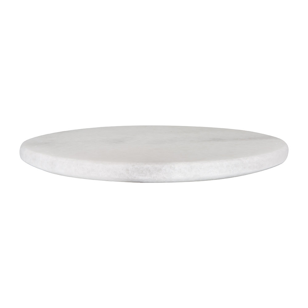 Stoned - Round Marble Serving Board - White - White