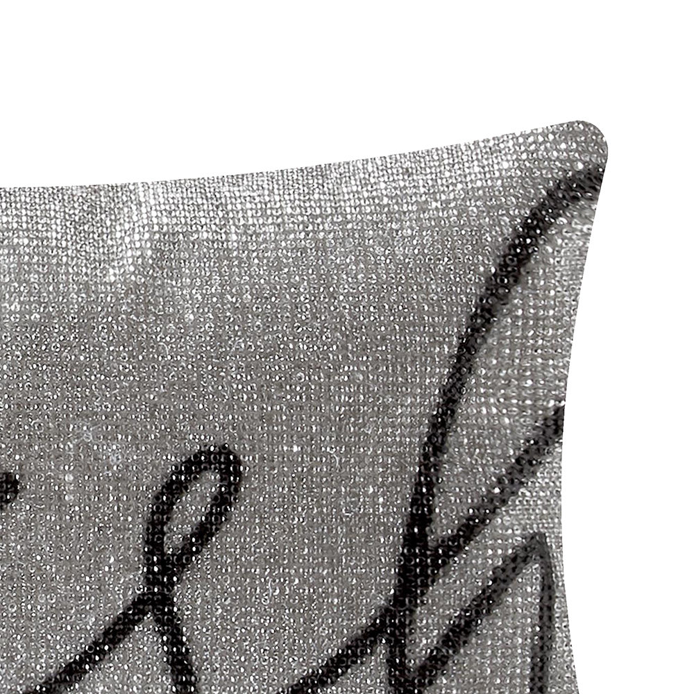 Rita Ora Home - Wish Pillow - Silver - 18x32cm