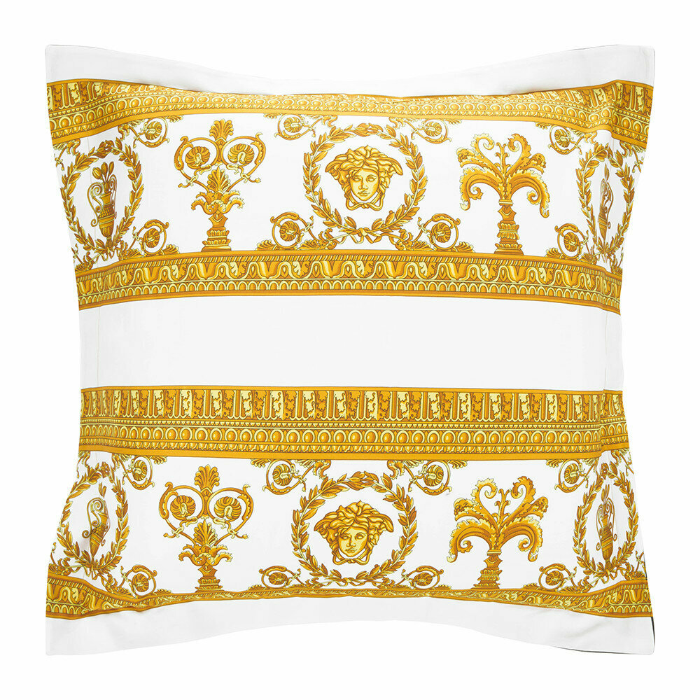 Versace Home - Barocco&Robe Double Face Reversible Pillow - White/Black/Gold