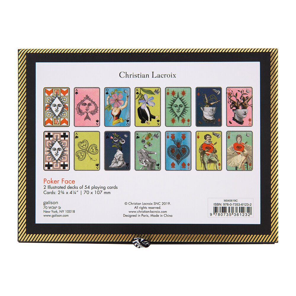 Buy Christian Lacroix Poker Face Playing Cards Amara