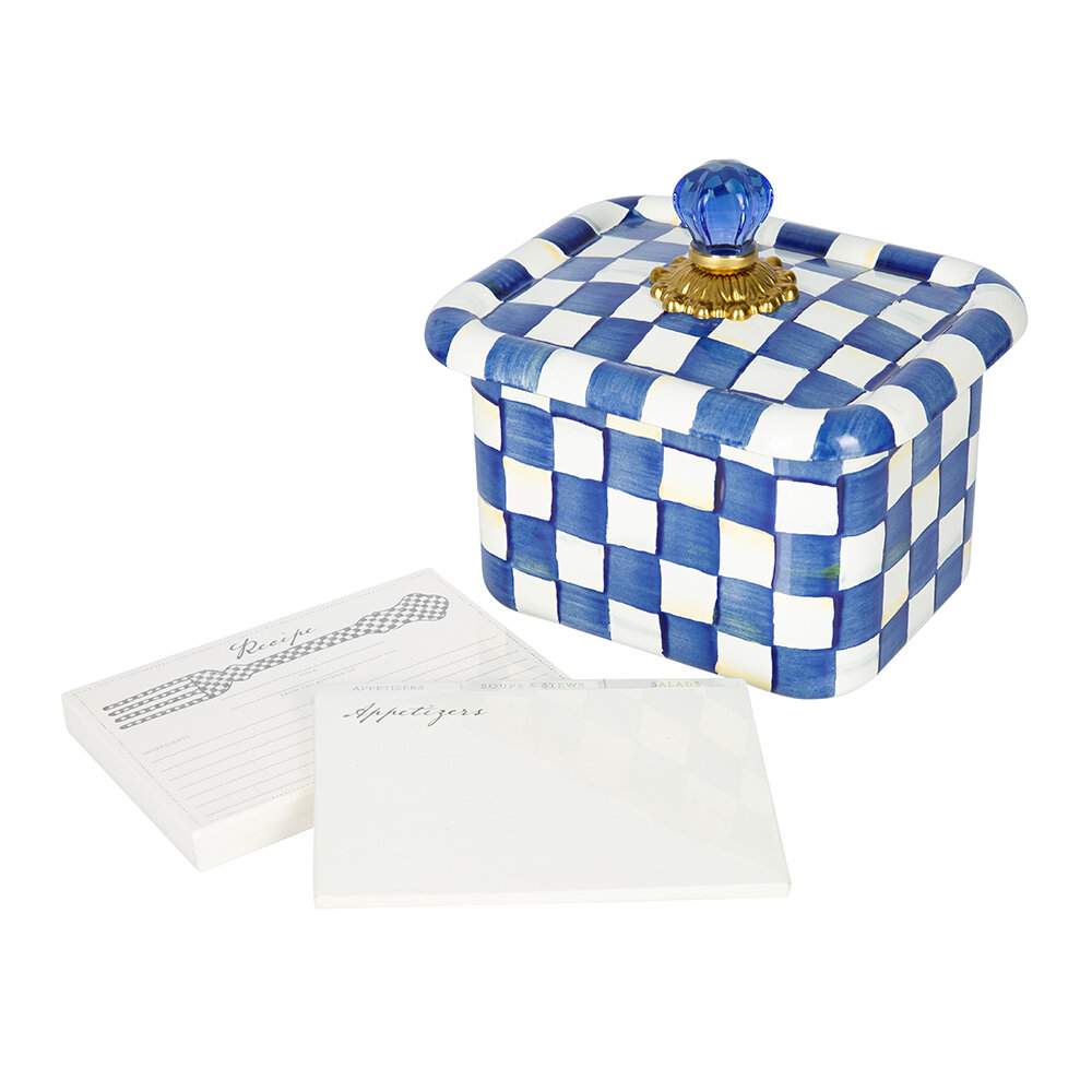 MacKenzie-Childs - Royal Check Recipe Box