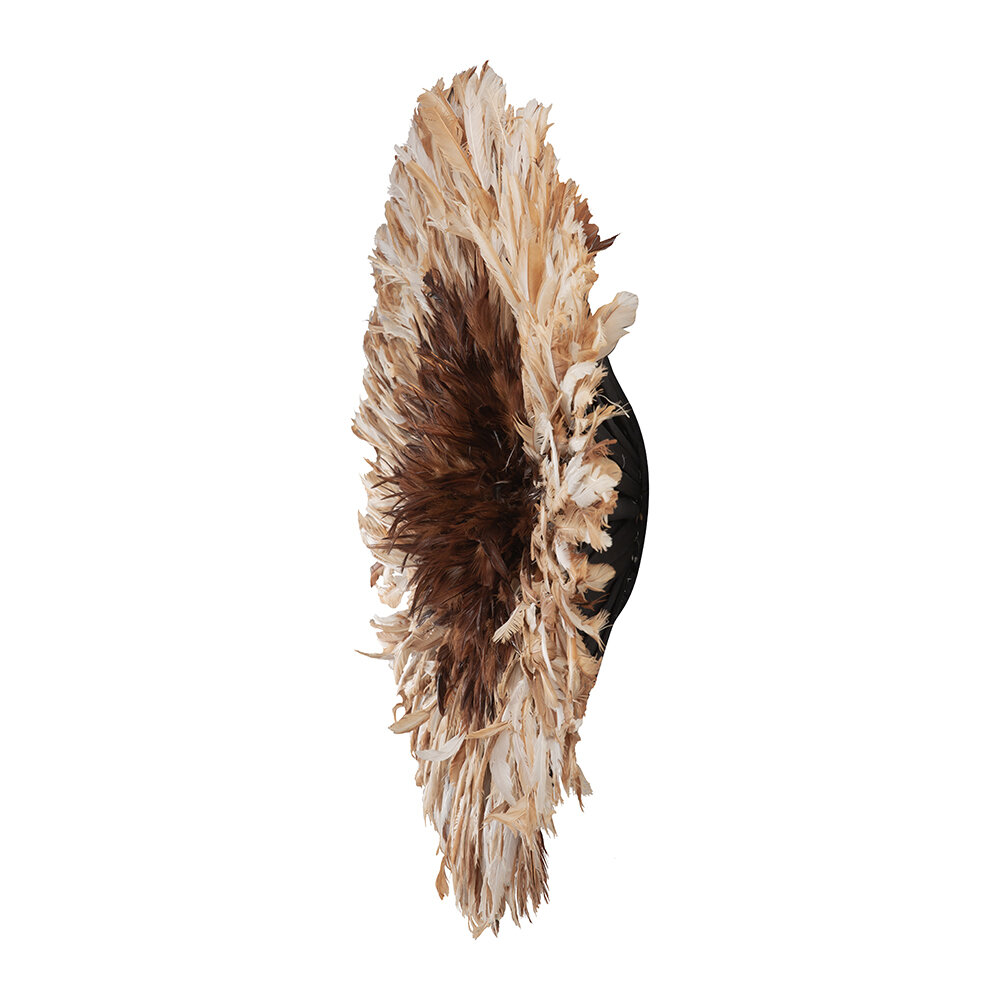 Source - Headdress Feathered Wall Decoration - Beige - Large