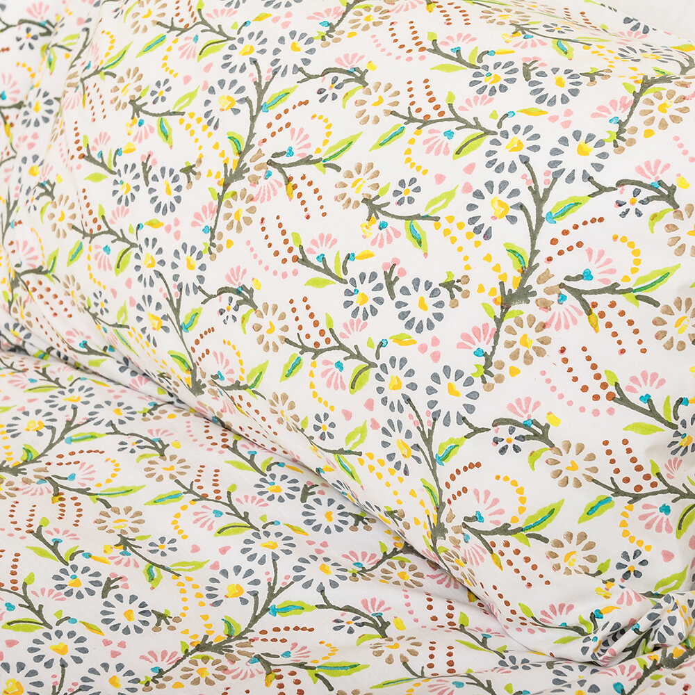 Lulu & Nat - Bedlinen Set in Bag - Original Multi Floral - Super King