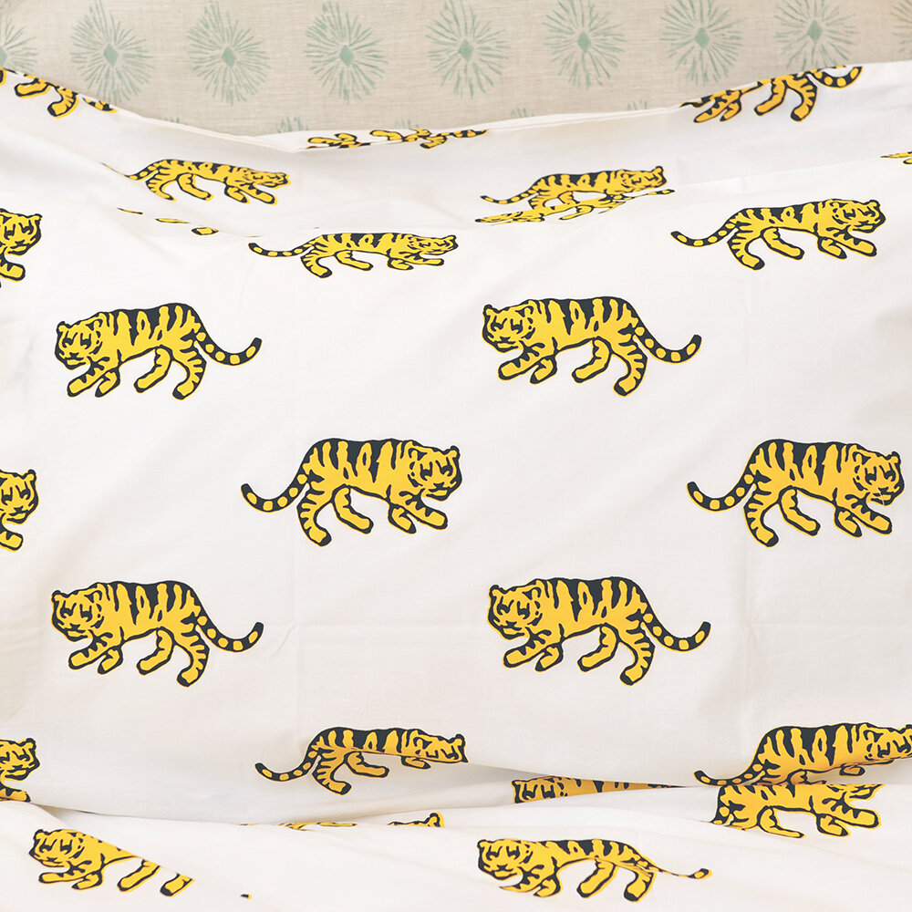 Lulu & Nat - Bedlinen Set in Bag - Tiger - King