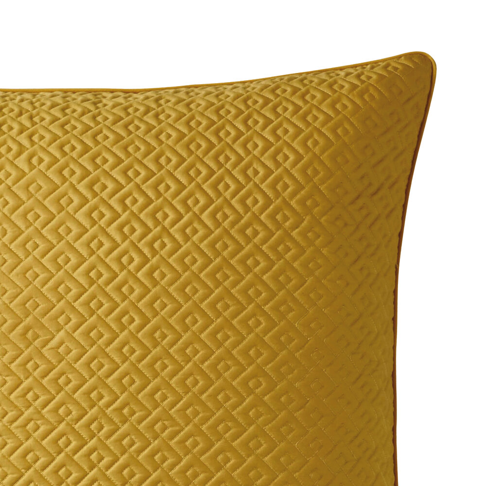 Alexandre Turpault - Palace Quilted Pillowcase - 65x65cm - Gold