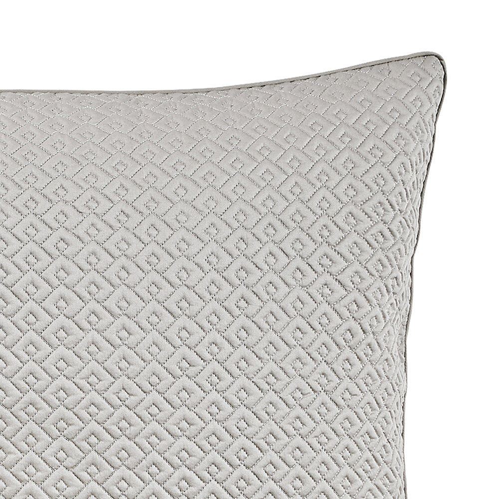 Alexandre Turpault - Palace Quilted Pillowcase - 65x65cm - Oyster