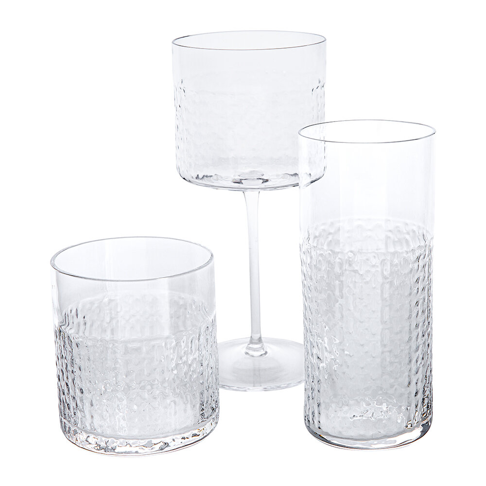 LSA International - Wicker Highball Glass - Set of 2 - Clear