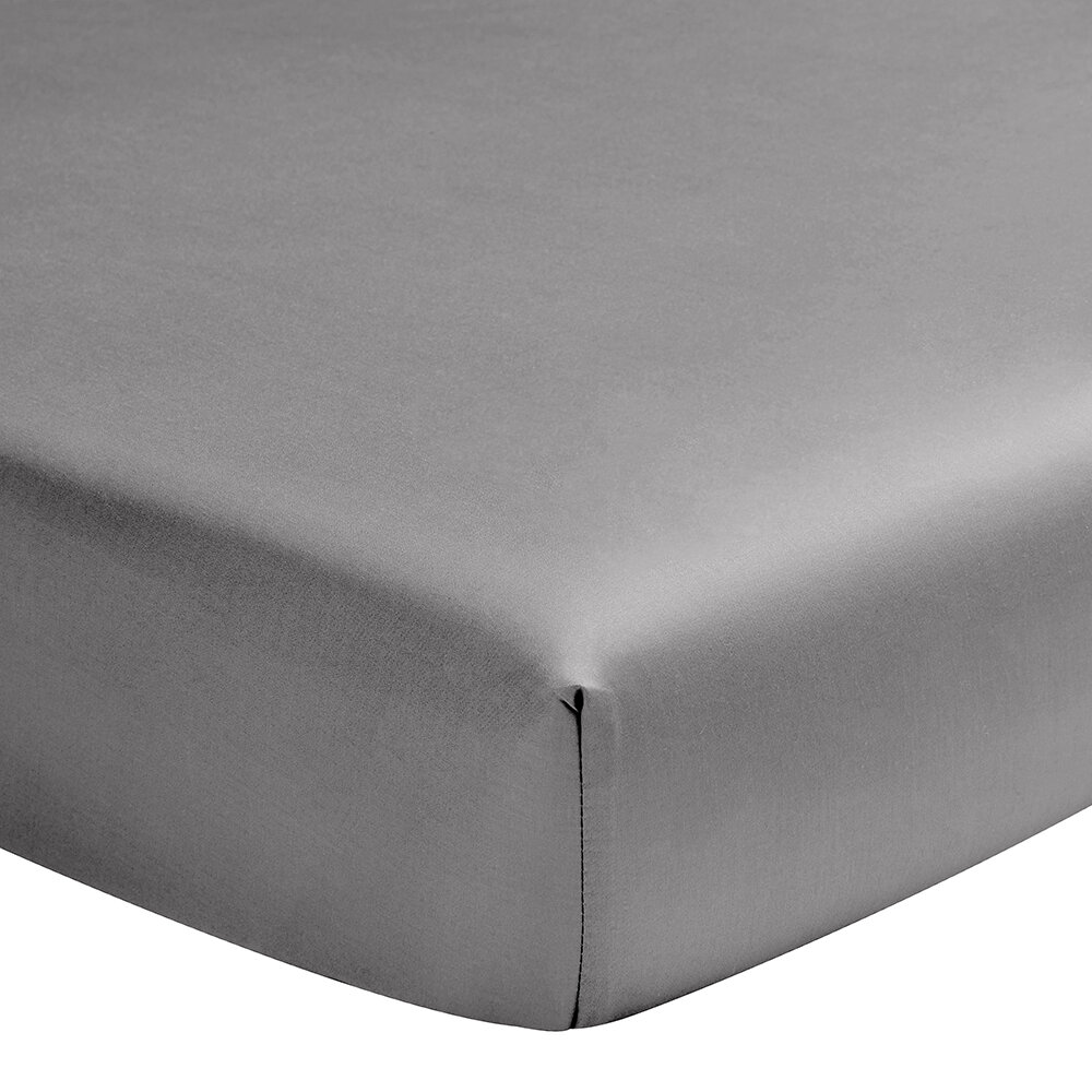 Alexandre Turpault - Teo Fitted Sheet - Steel Grey - Super King
