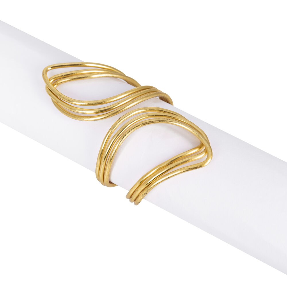 Luxe - Gold Cuff Napkin Ring - Set of 4