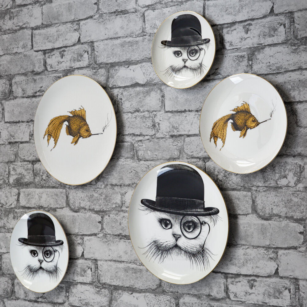 Rory Dobner - Perfect Plates - Cat in Hat - Medium