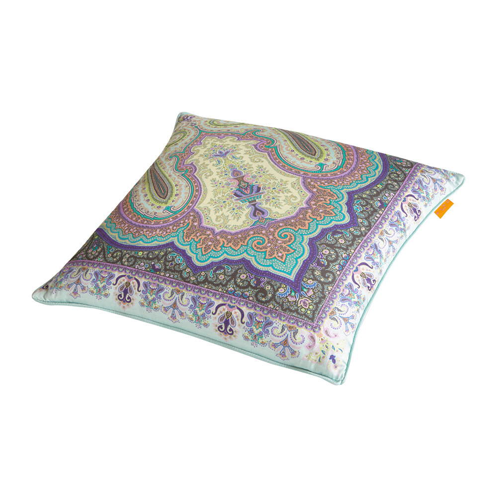 Etro - Pertuis Aigues Pillow with Piping - 45x45cm - Green