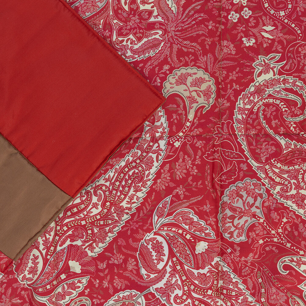 Etro - Salazar Turner Quilted Bedcover with Double Edge - 270x270cm - Red