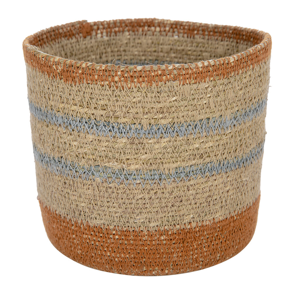 Global Explorer - Striped Seagrass Storage Baskets - Set of 2