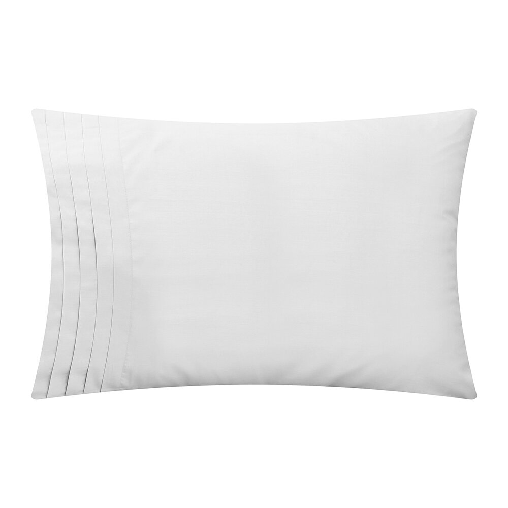 Reed Family Linen - Furness Pillowcase Set Of 2 - White - Housewife