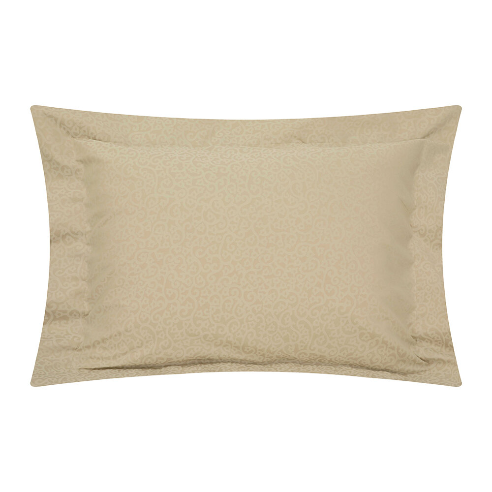 Reed Family Linen - Princess Grace Pillowcase Set of 2 - Taupe - Oxford
