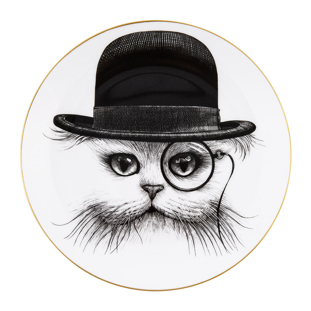 Rory Dobner - Perfect Plates - Cat in Hat - Large