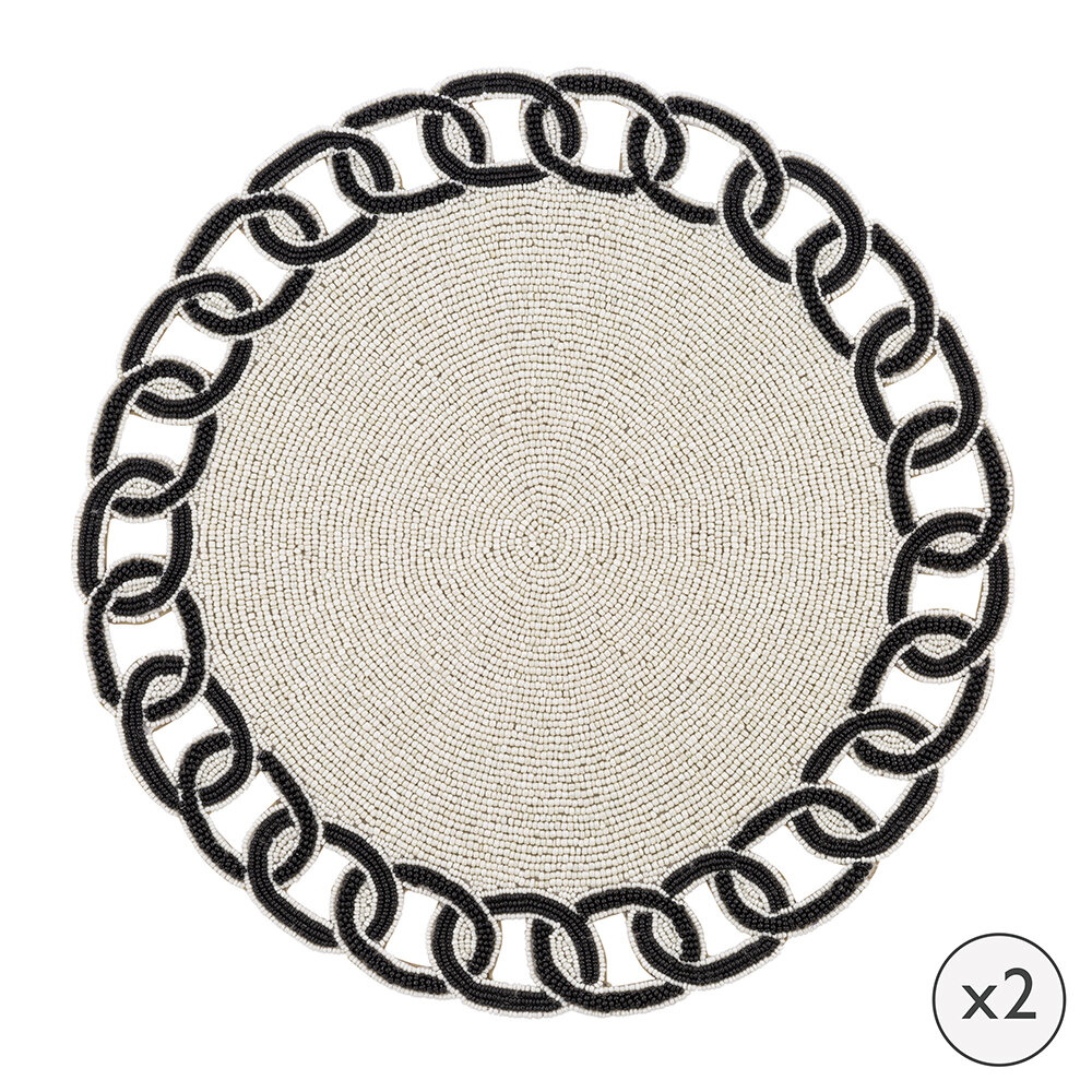 Luxe - Beaded Link Placemat - Set of 2
