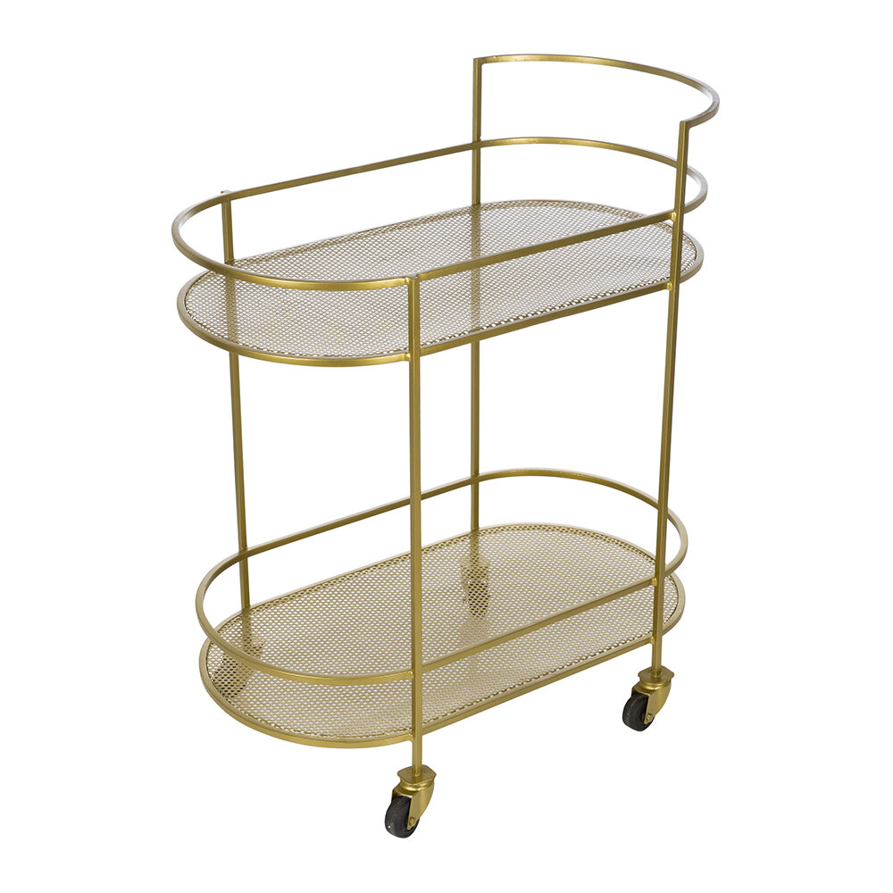 Image of A by AMARA - Brass Two Drinks Trolley