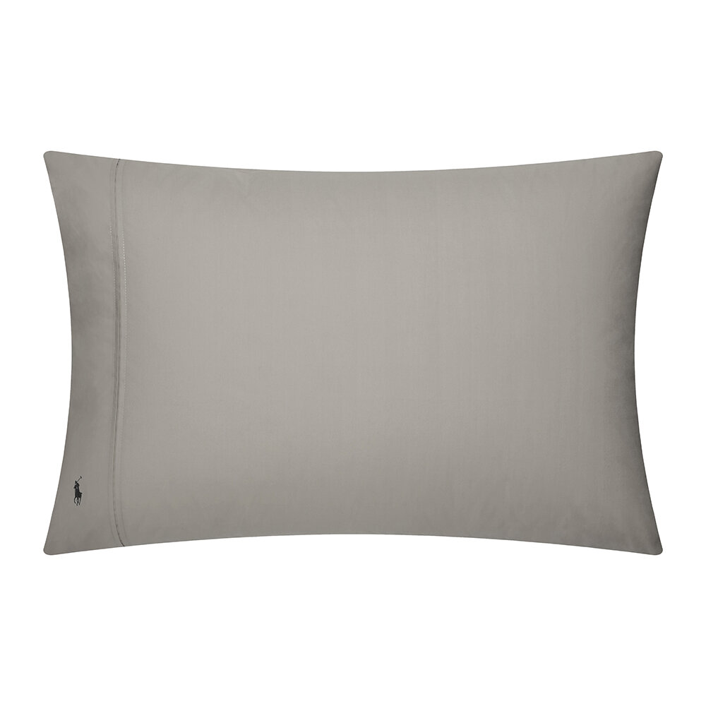 Ralph Lauren Home - Player Pillowcase - Set of 2 - Pebble - 50x75cm